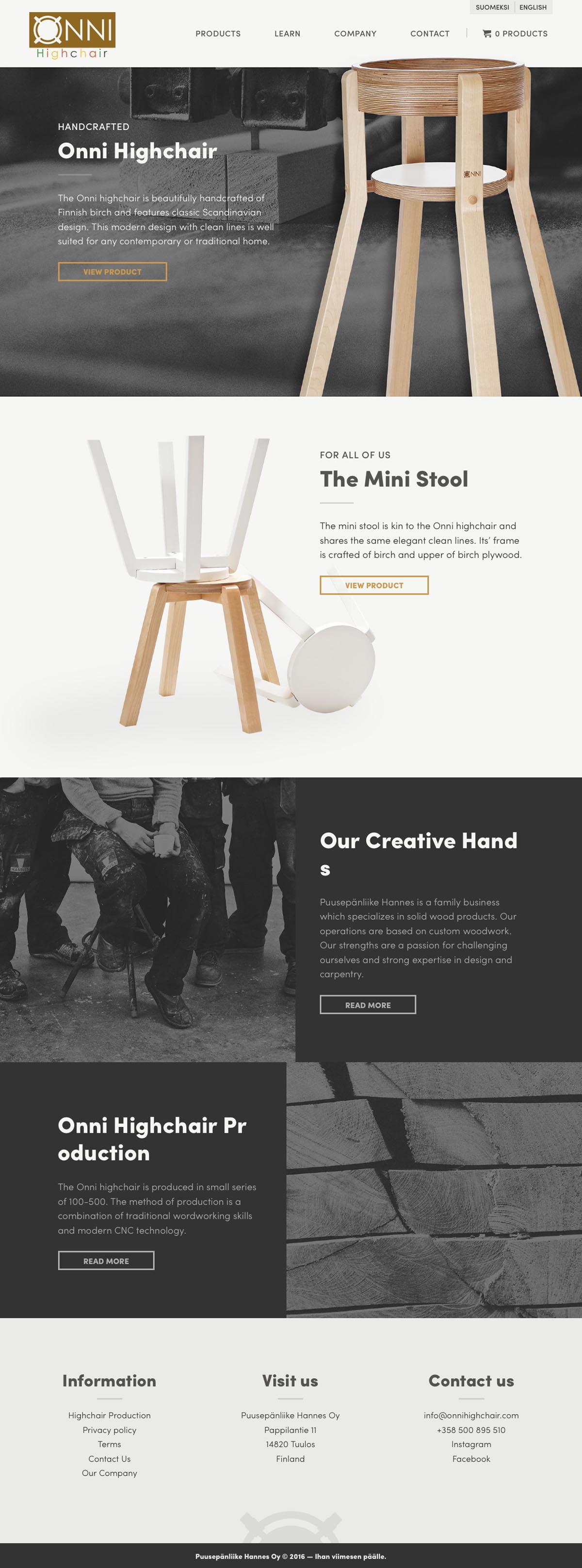 eCommerce website: Puusepänliike Hannes