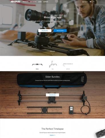 eCommerce website: Rhino Camera Gear