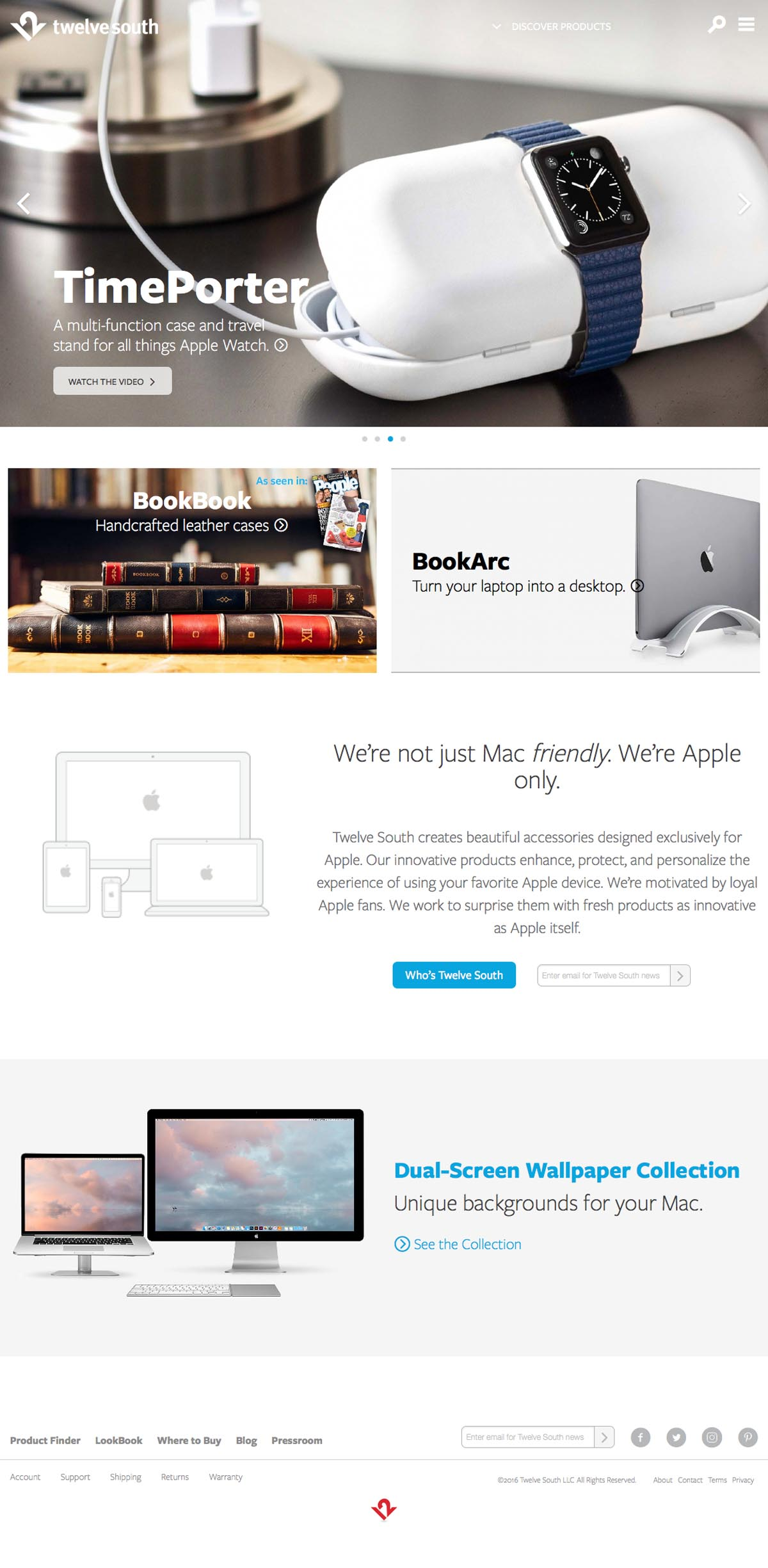 eCommerce website: Twelve South