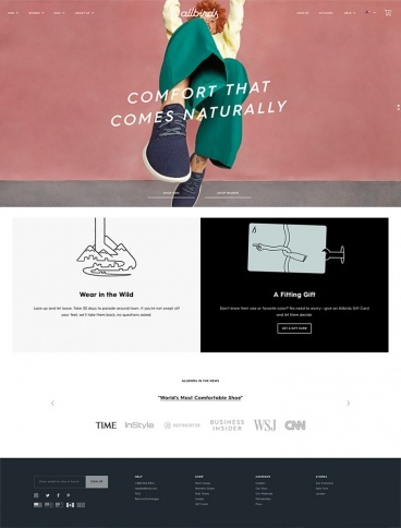 eCommerce website: Allbirds