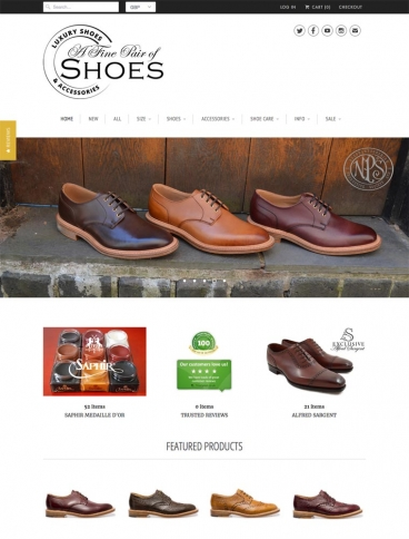 eCommerce website: A Fine Pair of Shoes