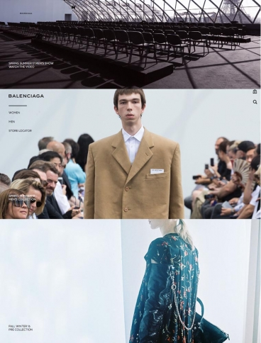 eCommerce website: Balenciaga