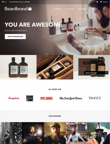eCommerce website: Beardbrand
