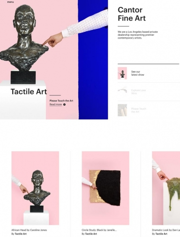 eCommerce website: Cantor Fine Art