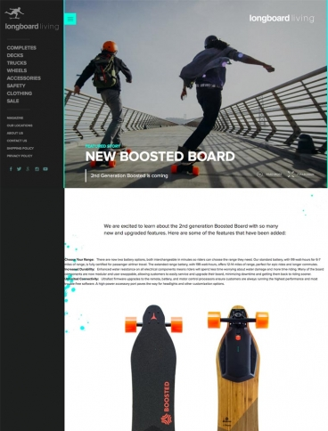 eCommerce website: Longboard Living