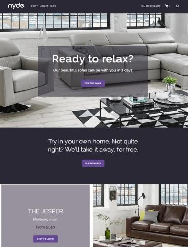 eCommerce website: Nyde