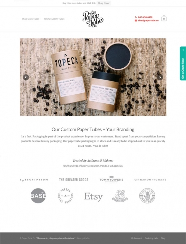 eCommerce website: Paper Tube
