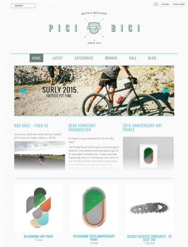 eCommerce website: Pici Bici