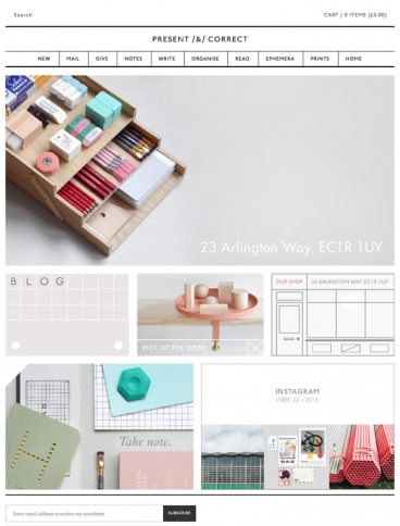 eCommerce website: Present & Correct