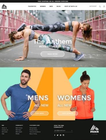 eCommerce website: RBX Active