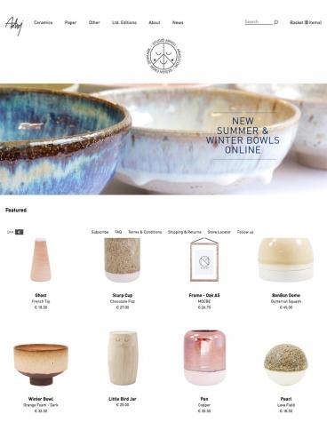 eCommerce website: Studio Arhoj Shop
