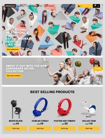 eCommerce website: Urbanears