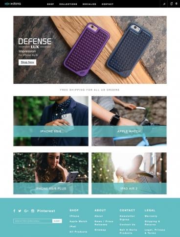 eCommerce website: X-Doria