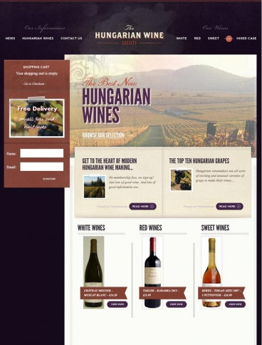 eCommerce website: The Hungarian Wine Society
