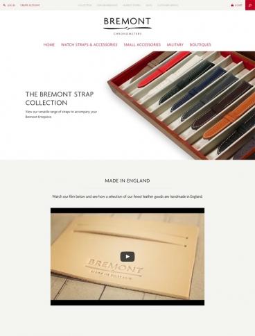 eCommerce website: Bremont