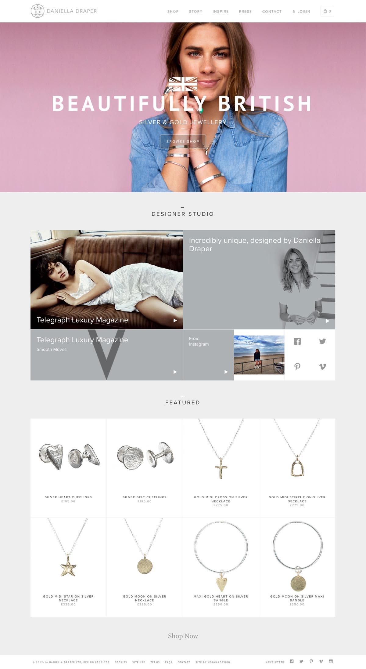 eCommerce website: Daniella Draper