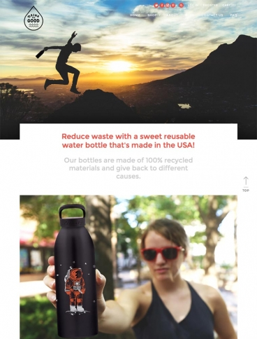 eCommerce website: Drink for Good