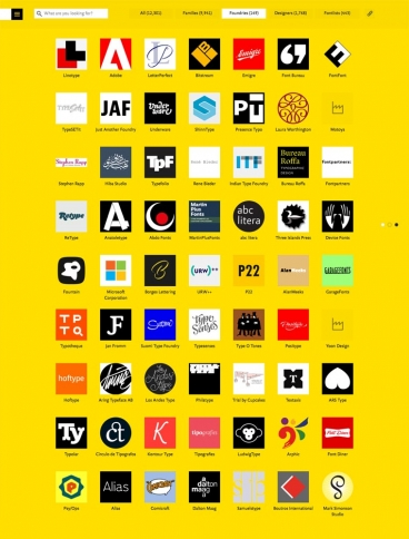 eCommerce website: FontShop