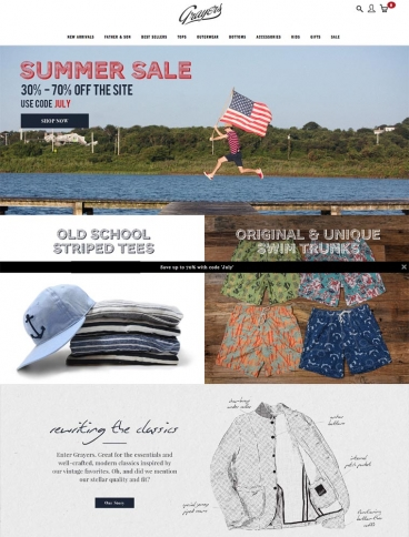eCommerce website: Grayers