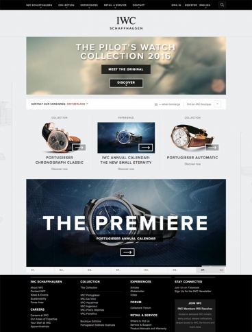 eCommerce website: IWC Watches