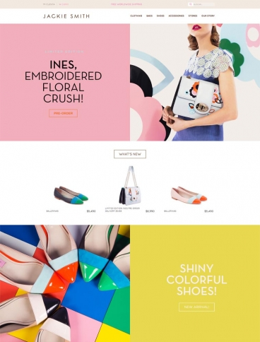eCommerce website: Jackie Smith