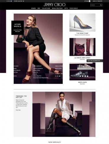 eCommerce website: Jimmy Choo