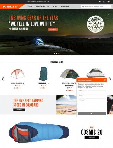 eCommerce website: Kelty