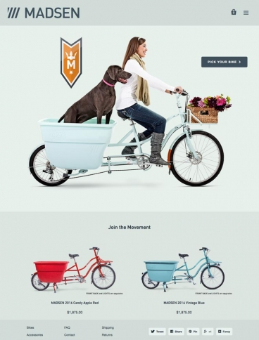 eCommerce website: MADSEN Cycles