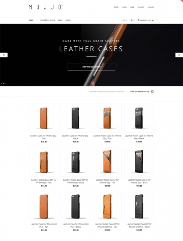 eCommerce website: Mujjo