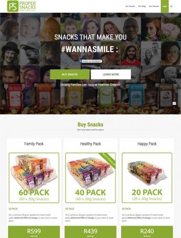 eCommerce website: ProperSnacks