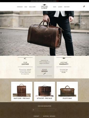 eCommerce website: Satchel & Page