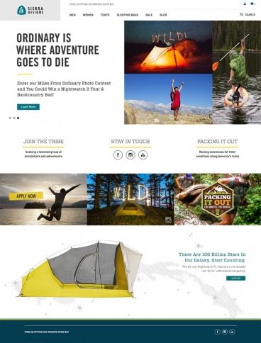 eCommerce website: Sierra Designs