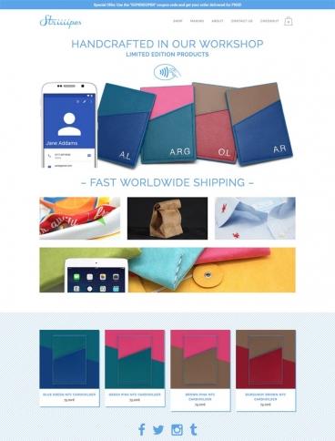 eCommerce website: Striiiipes