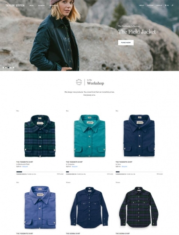 eCommerce website: Taylor Stitch