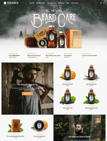 eCommerce website: Texas Beard Company