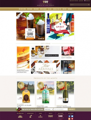 eCommerce website: The Whisky Exchange