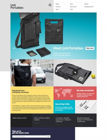 eCommerce website: Unit Portables
