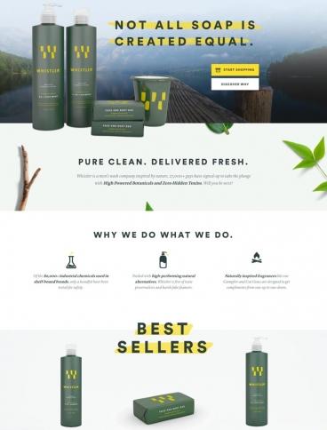 eCommerce website: Whistler