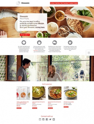 eCommerce website: Dineamic