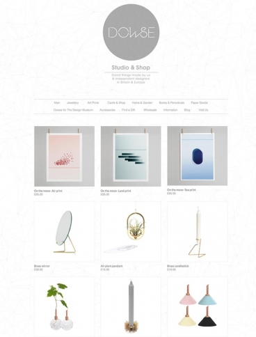 eCommerce website: Dowse