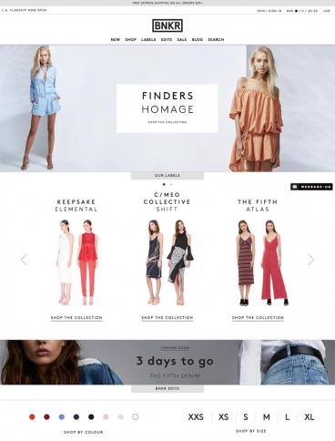 eCommerce website: Fashion Bunker
