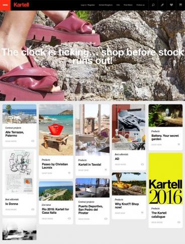 eCommerce website: Kartell