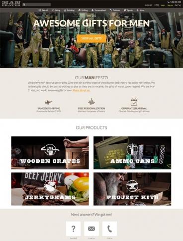 eCommerce website: Man Crates