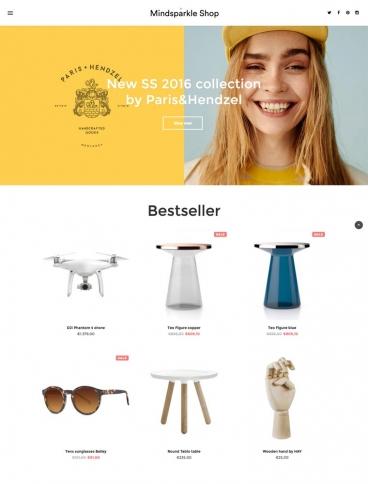 eCommerce website: MindSparkle Shop