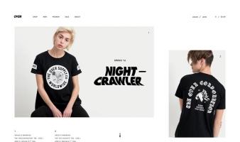 eCommerce website: Over