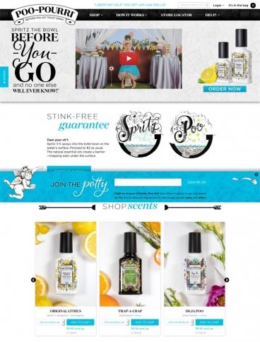 eCommerce website: Poo Pourri