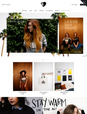eCommerce website: So Worth Loving