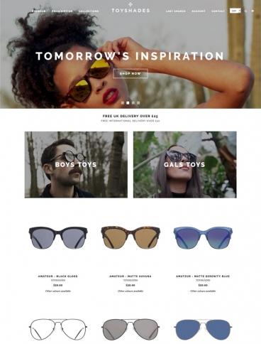 eCommerce website: ToyShades