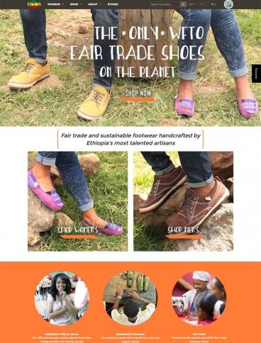 eCommerce website: soleRebels