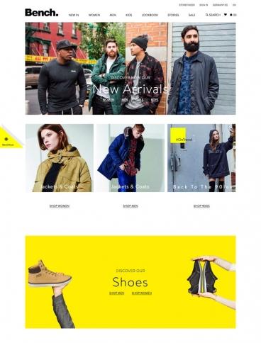 eCommerce website: Bench